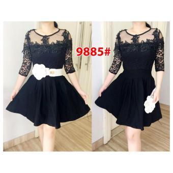 Grosir Dress-Dress 9885 Black