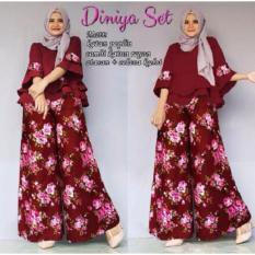 GSD - Baju Setelan Muslim Wanita - Set Hinaya Maroon