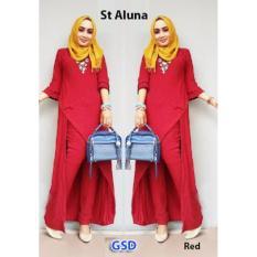 GSD-Baju Setelan Muslim Wanita-St Aluna Red