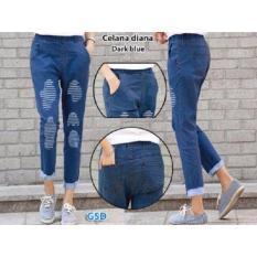 GSD-Celana Jean Casual Wanita-Cln Diana Dark Blue