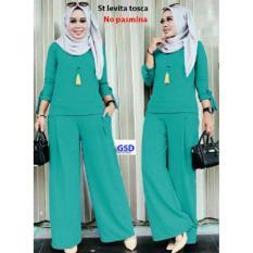 GSD-Setelan Baju Muslim Polos Wanita-Set F101 Tosca