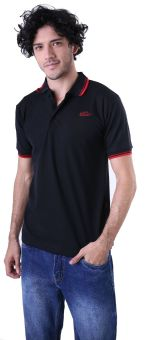 Gshop ADG 0011 Poloshirt Pria Cotton Pique Keren (Hitam)