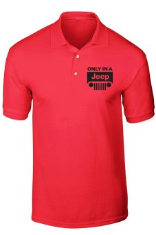 GudangClothing Polo Shirt JEEP - Merah