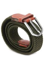LALANG Unisex Elastic Woven Belt Waistband Fashion Army Green