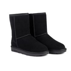 Hangat musim dingin salju panas wanita setengah sepatu boots 6 warna