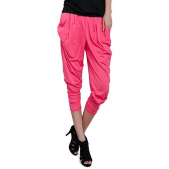 Harem Pants Trousers (Pink)