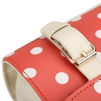 HDL Charming Polka Dots Messenger Bag Satchel Shoulder Bag Tote HandbagRed