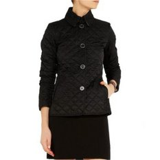 HengSong Fashion Women Ladies Thicken Warm Winter Buttons Small Coat Plus Size Black - Intl