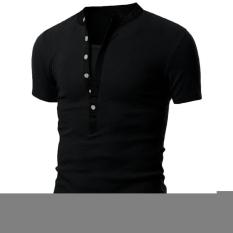 Hequ Men's Short Sleeved T-shirt (Black) (Intl)