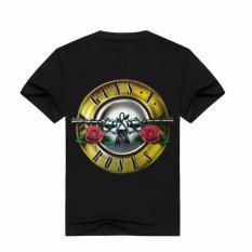 Hequ New Guns N' Roses Print Men Women Summer T Shirts GNR Music Band Men's T Shirts Short Sleeve Cotton Men Top Tees - Intl