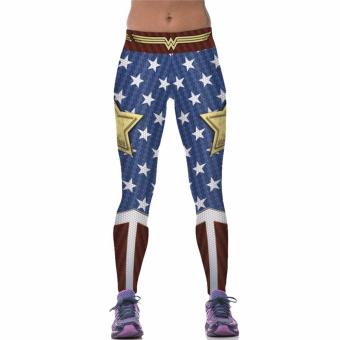 Hequ Wonder Woman Yoga Compression Pants Gym Fitness Leggings Professional Sports Running Pants Butt Lift Feminino
