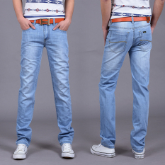 High Quality Men's Casual Ultra Thin Jeans Denim Trousers - Intl