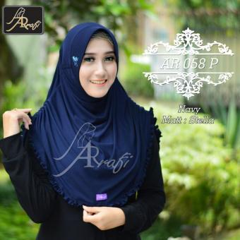 Hijab Instan Arrafi Rumana Rempel (Navy)
