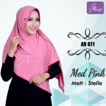 Hijab Instan Arrafi Veena [warna Med Pink] AR71N kerudung jilbab bergo