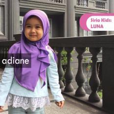 Hijab Jilbab kerudung Anak Luna Kids By Adiane - Ungu