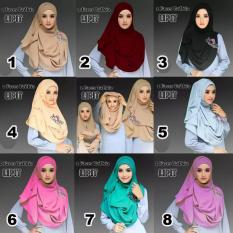Pashmina Putih Ungu Kerudung Ini Mempunyai Warna Hitam Dengan Source · Hijab Jilbab Pashmina Instan Tazkia
