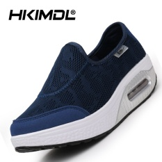 HKIMDL Air Cushion Thick Bottom Increased Shake Shoes Sandals Shoes Fashion Korean Pine Cake Cool and Leisure Shoes Blue - intl