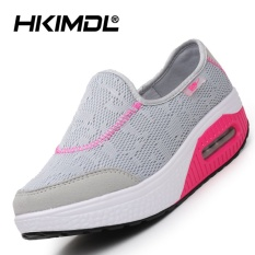 HKIMDL Air Cushion Thick Bottom Increased Shake Shoes Sandals Shoes Fashion Korean Pine Cake Cool and Leisure Shoes Grey - intl