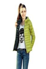 HKS Fashion Ladies Winter Coat Cotton Jacket Top Female Slim Outerwear Green (Intl)