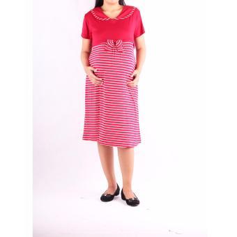 HMILL Baju Hamil Dress Hamil 1204 - Merah