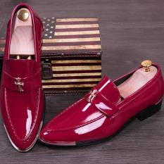 Hot Men Genuine Cow Leather Young Shoes Working Shoes Formal Casual Shoes-Red - Intl