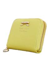 Hot Sale Fashion Lady Women Pu Leather Wallet Zip Around Wallet Card Holder Handbag Yellow