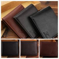 Hot Sale Fashion Short Design Male wallet Gentle man Purse Leather Brand Men's Wallet Holder cover card purse - intl