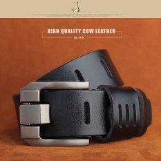 Hot Sale Men's Leather Belts Genuine Luxury Men's Belt Military Style 120CM (Black) - Intl