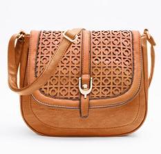 Hot Sale Women Bag PU Leather Women Messenger Bag Vintage Handbags Cross Body Shoulder Bag Bolsa Feminina Purse Tote Hallow Out - Intl