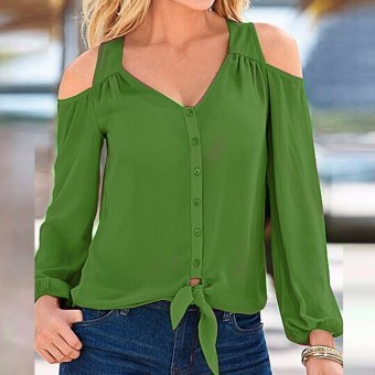 Green blouses for women sexy