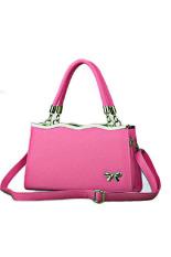 Hot-sale Women Lady's Vintage Shoulder Bags Leather Handbag (Rose)