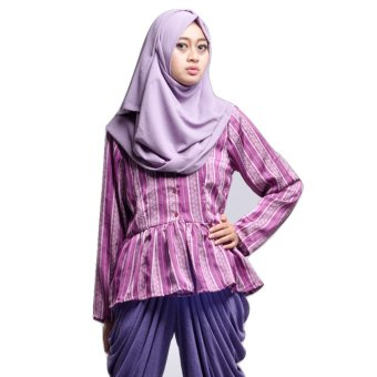 House of Shaqina Top Minang Peplum - Ungu