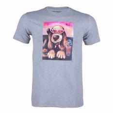 Hush Puppies Kaos Pria Gabriella A Hadiprana - Abu Abu