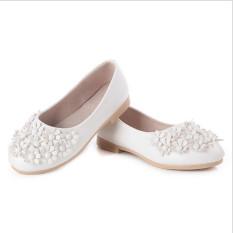 I01 putih model anak imut her she putri bunga-bunga her kulit serta menumpu satu-dia gum ukuran: 26-36