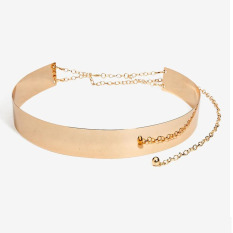 Icantiq Medium Metal Belt Mirror For Women Ladies Accessories / Ikat Pinggang Metal - Gold