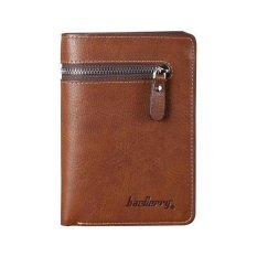 Ilife Baellerry Baelerry Wallet Men's Wallets Coin Purse Male Clutch Zipper Pocket Men Card Holder Business Leather Brown