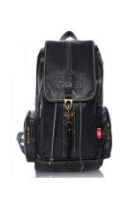 ILife Pu Leather Backpack Female For Girl Vintage Casual Women's Backpack School Bag Ladies Travel Bag Black