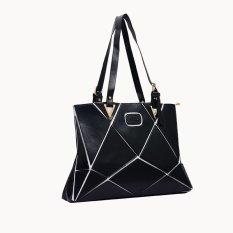 Ilife Stitching Water Cube Satchel Ladies Handbag Shoulder Bag Shopping Women Tote Rhombus Black