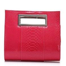 Ilife Women Clutch Women's Wallets Crocodile Handbag Famous Brand Lady Alligator Shoulder Messenger Bag Bolsas (Red)