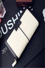 ILife Women Long Wallets Classic Purse Woman Bags Designers Standard Large Zipper Lady Purse Clutch White
