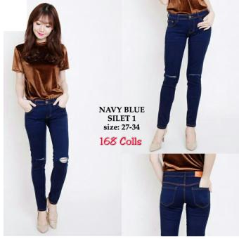 Harga Terbaru 168 Collection Celana Big Navika Jeans Long Pant-Navy