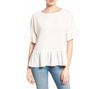 Cotton Bee Apparel Verchiel Ruffle Blouse - Off White