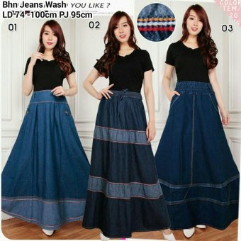 ... Batik Long Source · Harga Terbaru 168 Collection Rok Maxi Ayala Jeans Long Skirt 01