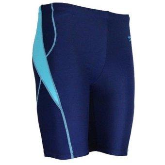 harga Celana Renang Pria Professional Swimming Trunk Pants Size L - Blue Lazada.co.id
