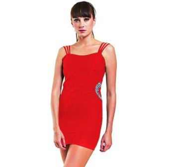 ASHIQEEN MINI DRESS Merah .