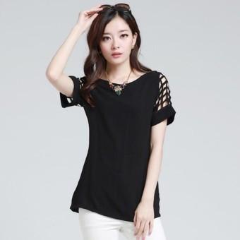 ... Menggantung Qiao Panas Gaya Korea Jual Baju Wanita Atasan . Source · Jual Hequ Model Leher Kemeja Sifon Atasan Kasual Musim Panas V Berongga Baju .