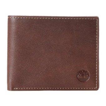 harga Timberland Men's Blix Leather Wallet Brown - intl Lazada.co.id