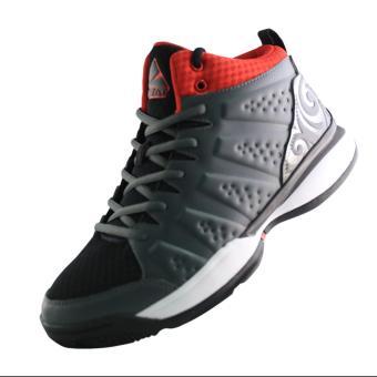 2Beat Wave Sepatu Basketball - Grey Black Red