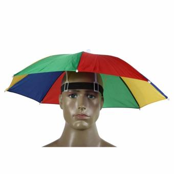 harga Topi Payung Kepala Headband Umbrella Sun Shade - Multicolor Lazada.co.id