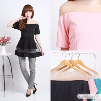 Harga Terbaru Omah Fesyen Ravlisya Tile Flare Blouse - Tosca